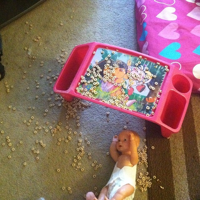 More Cheerios will end up on the floor than in their bellies.