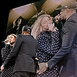 Beyonce Knowles and Jay Z at Hillary Clinton Concert 2016