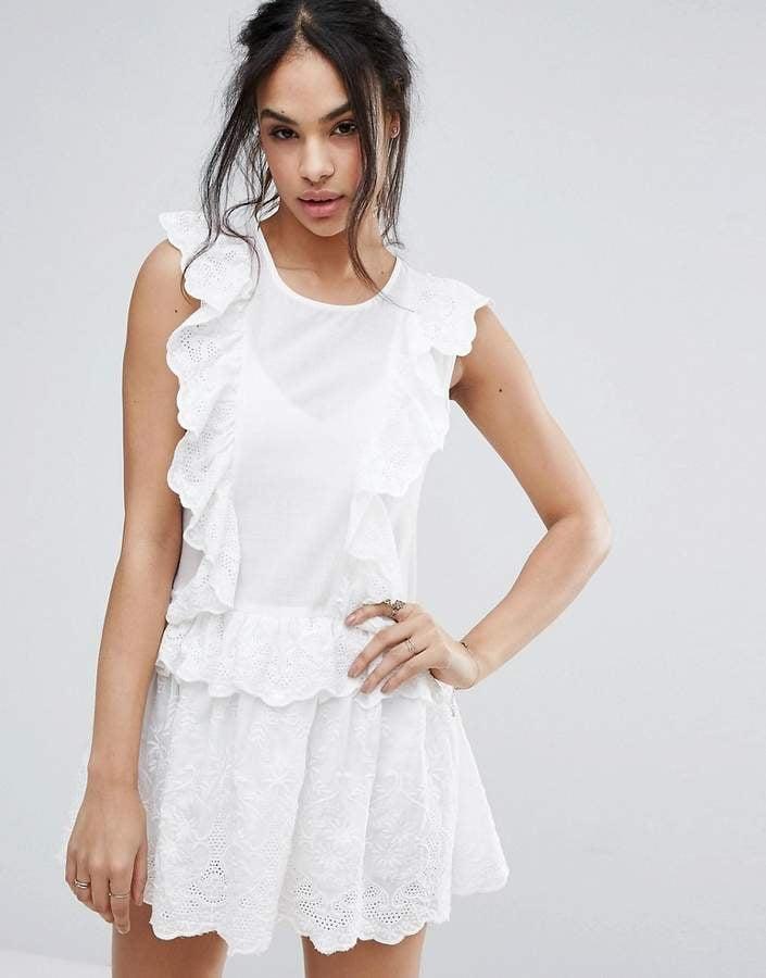 Plunge mesh lace bodycon dress