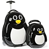 The adorable Percy Penguin Set ($90) by Travel Buddies includes an 18-inch rolling suitcase and a matching 13-inch hard-shell backpack. It's a convenient option — the rolling handle can be adjusted to either an adult or child height.