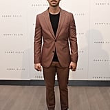 Joe Jonas suited up for the Perry Ellis presentation.