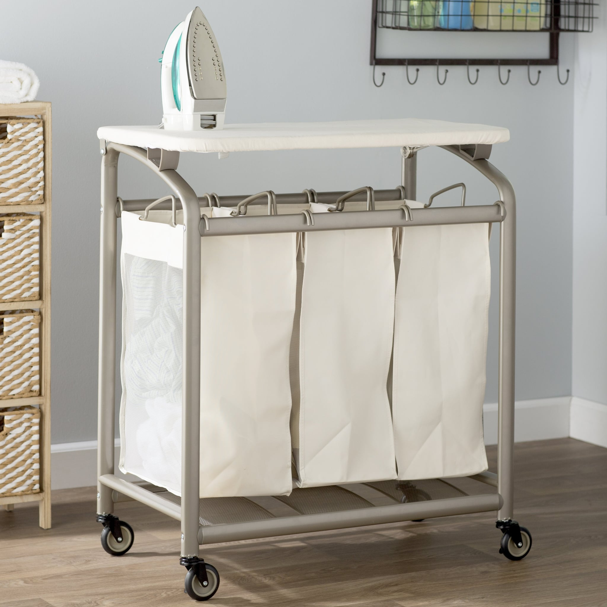 - Laundry Sorter Hamper With Folding Table 15 Genius Laundry-Room