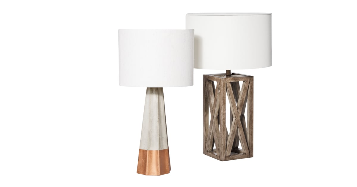 rose gold dipped cement table lamp 70 and wood box lamp 40 target 39 s new threshold fall. Black Bedroom Furniture Sets. Home Design Ideas
