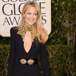 See Kate Hudson in Alexander McQueen at 2013 Golden Globes