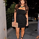 Kim Kardashian wore a statement necklace to the LA event.