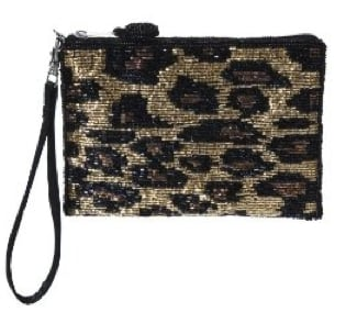 Leopard Print Beaded Coin Purse ($10)