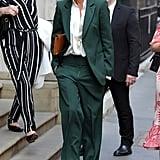 Victoria Beckham's Green Suit