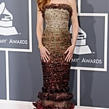 Nicole wearing Jean Paul Gaultier at the 2011 Grammy Awards.