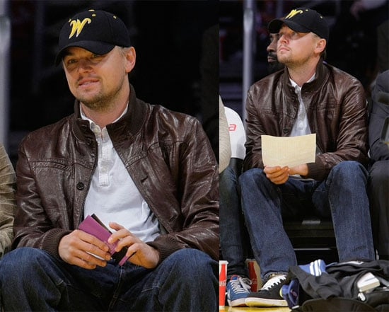Photos of Leonardo DiCaprio at a Lakers Game in LA