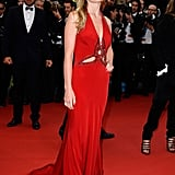 Georgia May Jagger's red Roberto Cavalli dress showed off just the right amount of skin, thanks to a few strategically placed cut-outs.