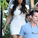 Kim Kardashian at her rehearsal dinner.
