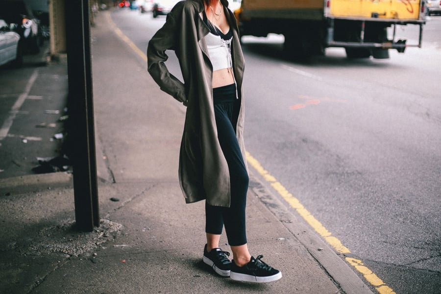 Fall Suede Sneaker Trend It Girl Le Happy Blogger