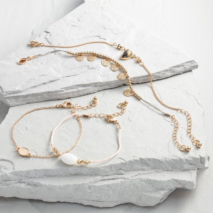 Gold and Pink Bracelet