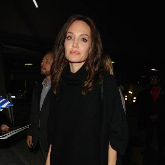 Angelina Jolie Wearing Black Suede Boots