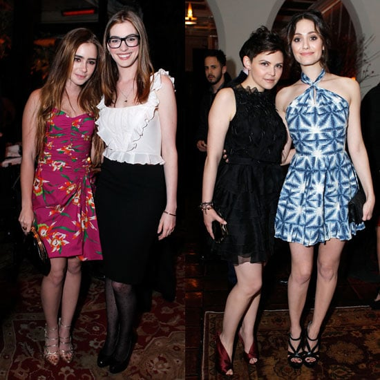 Pictures of Anne Hathaway, Lily Collins, Ginnifer Goodwin, Emmy Rossum at Harvey Weinstein and Dior's Oscar Dinner