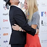 Gwyneth got a sweet hug from her Country Strong costar Tim McGraw during the Stand Up to Cancer event in LA in September 2012.