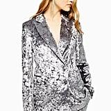 Topshop Bonded Velvet Suit