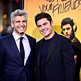 POPSUGAR: Obviously you guys know each other well now, but what were your first impressions of one another when you first met? Zac Efron: Ooh, good question. Max Joseph: Yeah, we haven't really ever talked about the first time we met. You [to Zac] came in, your energy was a little low. You were kind of quiet, and I was expecting high-energy Zac Efron. I thought something was on his mind. I thought maybe you were having an off day, in a weird way, and it was really interesting. I liked it. He was quiet and thoughtful about something else. PS: Which is sort of how the character is too. MJ: Yeah, and I kind of leaned into that. I was like, that's really cool, and I don't think anyone has seen a side of him like that. There was some major inner life happening in there. ZE: I think what was on my mind at that moment, and what's always on my mind when I first meet for a project, is, what does it mean to me? There was something profound about the sizzle reel that Max sent, and I had not read the script yet, but I was just caught up in how much I was really engaged with the material. And that's always scary, because it feels like you might be committing to something. Emily Ratajkowski: It's like going on a first date with someone you already know you want to marry. ZE: Yeah, exactly.