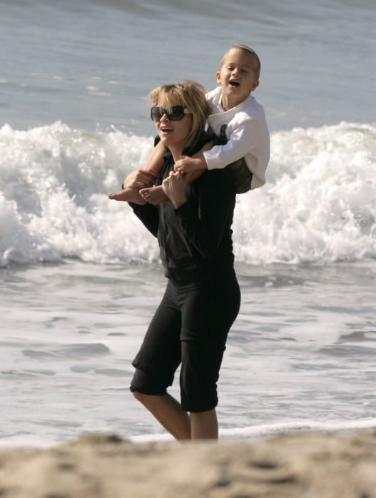 Reese and Deacon Play in the Surf