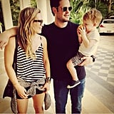 "Hilary Duff went on a Valentine's Day vacation with her son, Luca, and her ex, Mike Comrie. She captioned this picture ""#modernfamily."" Source: Instagram user hilaryduff"