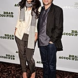 Katie Holmes posed with her costar Norbert Leo Butz.