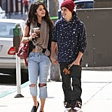 Justin Bieber and Selena Gomez took a sweet stroll through LA in April.