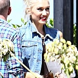 Gwen Stefani was all smiles as she arrived at the radio station.