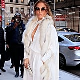 Jennifer Lopez's White Chanel Jumpsuit Dec. 2018