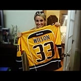 Jamie Lynn Spears flashed her new hockey jersey. Source: Instagram user jl777
