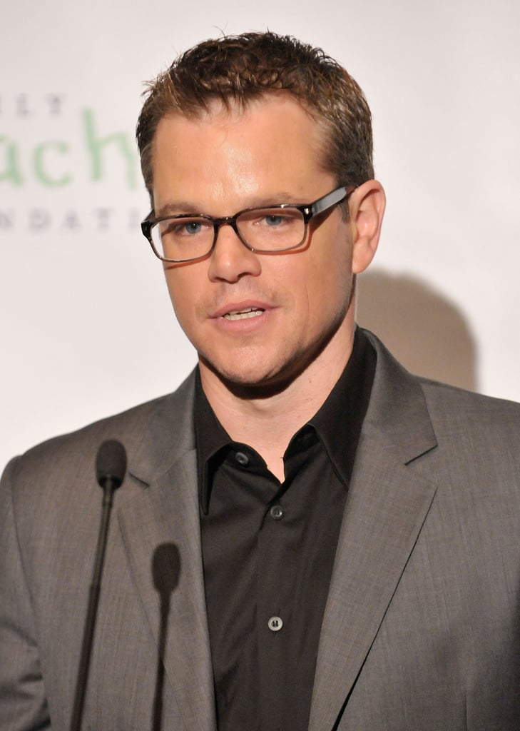 Matt Damon spoke at Family Reach Foundation's Cooking Live! in NYC.