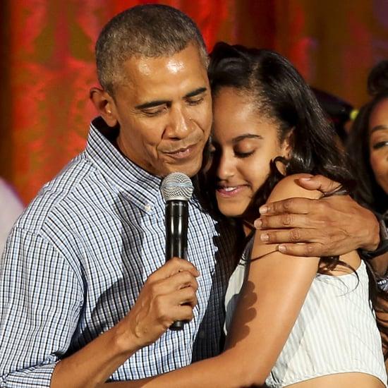 "Barack Obama Sings ""Happy Birthday"" to Malia July 2016"