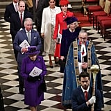 In 2019, the queen was joined by Prince Harry and Prince William at Commonwealth Day service.