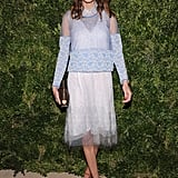Alexa Chung posed for photos at the awards.
