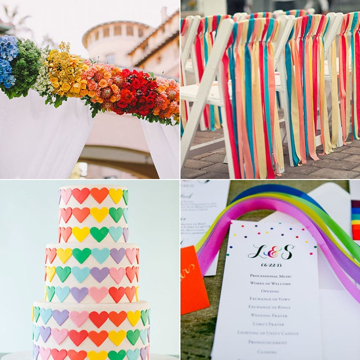 Rainbow wedding theme popsugar love sex rainbow wedding theme junglespirit