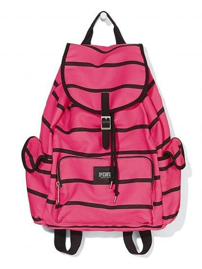 Update your ratty gym bag with a fun, bright backpack, like Victoria's Secret's Pink Backpack ($40).