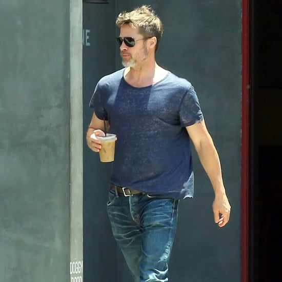 Brad Pitt Getting Coffee in LA July 2017