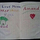 Amanda, who loves her dad, but not as much as she loves Mom.