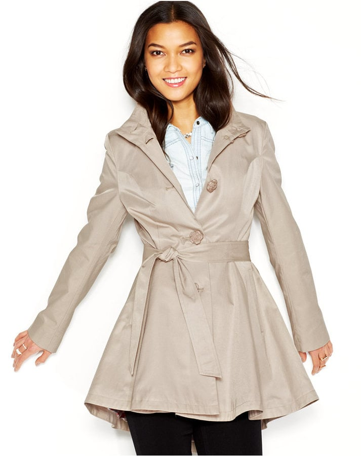 06846a751d39 Betsey Johnson Flared Trench Coat   Best Trench Coats For Spring ...