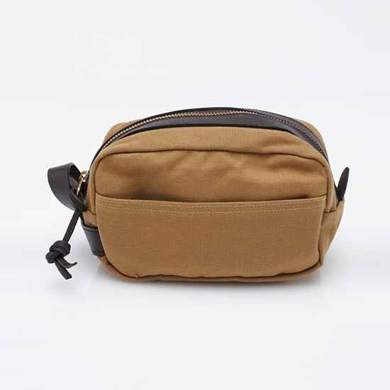 The best part of this Filson travel kit ($95)? The canvas and leather will only get better with age.