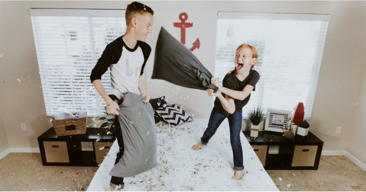 PopsugarMomsOpinionWhen Should Siblings Stop Sharing a Room?My Son and Daughter Share a Room, and I Don't Have Any Plans of Separating ThemApril 17, 2018 by Angela Anagnost Repke112 SharesChat with us on Facebook Messenger. Learn what's trending across POPSUGAR.In some homes, kids share a room by choice (usually their parents'). In others, it's a necessity due to lack of space. In our house, my two small children, ages 5 and 3, share a room because they want to. At first, it was just an experiment. They asked if they could sleep in the same room, so for fun, we let them, but it blossomed into the two of them permanently sharing space. But because our 5-year-old is a boy, and our daughter is younger, I know it won't be like this forever.If my kids were both the same sex and they never complained about not having their own space, I'd keep them there until they went to college.My husband and I are done in the baby-making department, so whenever my kids are ready, they can each have their own room again. But for - 웹