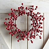 Red Glitter Berry Mini Wreath