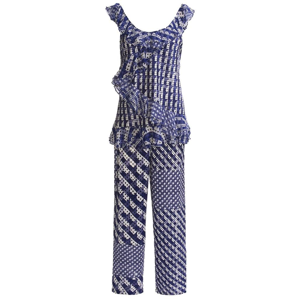 Oscar de la Renta Charmeuse Pajamas
