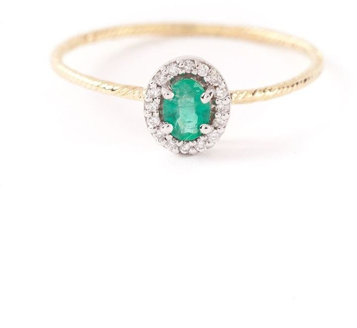 Wouters & Hendrix Gold Emerald and Diamond Ring ($672)