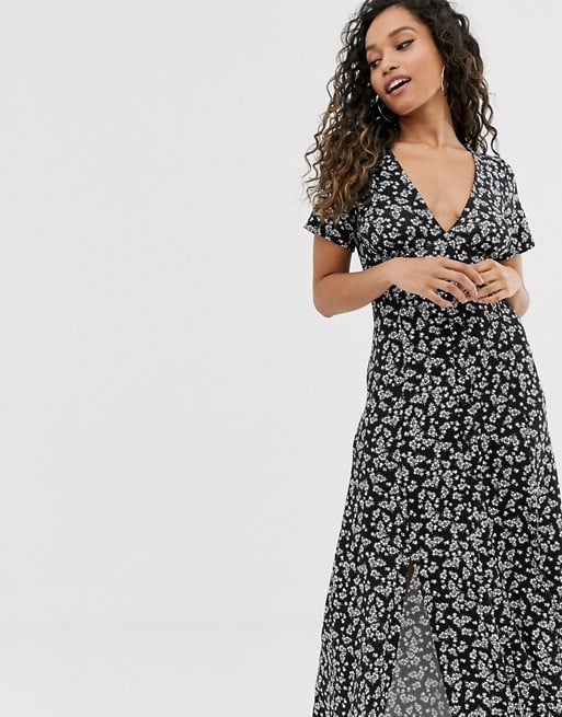 ASOS Design Button Through Maxi Tea Dress