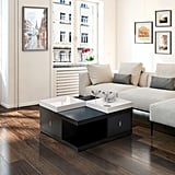 The Gray Barn Elsinora Black Coffee Table With Serving Trays