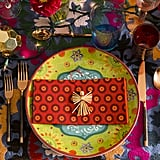 """The stunning plates were the inspiration for the tabletop look. """"They are in these festive and fun colourways and feel 'holiday' without being so specific that you couldn't also use them for other occasions."""" she said."""