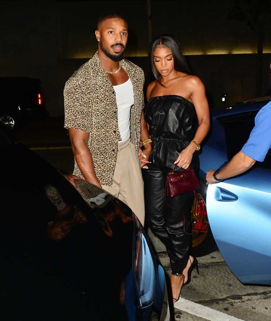 Lori Harvey and Michael B. Jordan continue to raise the bar for date night style. On August 21, the couple took an outing to Craig's restaurant in West Hollywood and kept their outfits casual — or rather, as casual as things can be when you're Lori and Michael. We're always wowed by their elevated fashion, and these evening looks are no exception.  The model wore a sleek Celine leather jumpsuit paired with strappy heels, gold jewellery, and a maroon handbag for a pop of colour. Michael looked complementary in his YSL ensemble, opting for a patterned unbuttoned shirt, trousers, black boots, and a sparkling chain. Talk about unbeatable, effortless fashion! Get a closer look at their sexy style in the photos ahead.       Related:                                                                                                           Lori Harvey's Sexy Outfit Reminded Us It's Time to Dust Off Our Espadrille Sandals