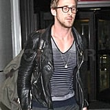 Ryan Gosling Makes a Spectacle of Himself at the Airport