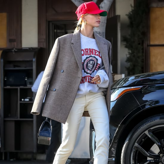 Hailey Baldwin Channels Princess Diana in a College Hoodie