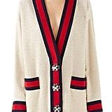 Gucci Crystal Button Tweed Cardigan